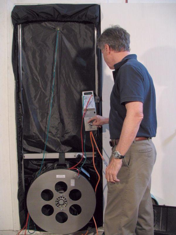 ... Infiltec E3-A-DM4 Blower door image & INFILTEC: Fire Protection Enclosure Integrity Testing