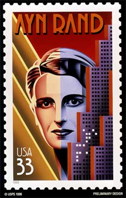 Ayn Rand Stamp
